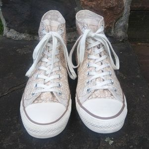 Converse All Stars Chuck Taylor's White Gold 10.5